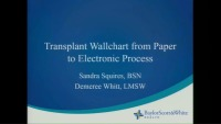Transplant Wallchart from Paper to Electronic Process