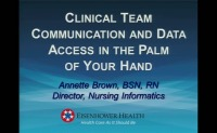 Clinical Team Communication and Data Access in the Palm of Your Hand