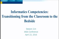 Informatics Curriculum from Classroom to Bedside