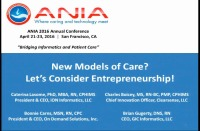 New Models of Care? Let's Consider Entrepreneurship!