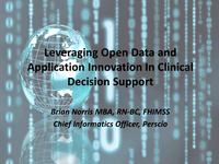 Leveraging Open Data and Application Innovation In Clinical Decision Support