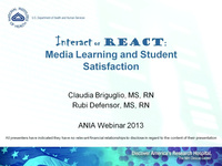 Interact or React: Media Learning and Student Satisfaction