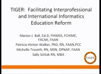 030 - TIGER: Facilitating Interprofessional and International Informatics Education Reform