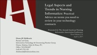 Legal Aspects/Trends in Nursing Informatics