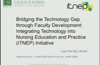 Bridging the Technology Gap through Faculty Development: Integrating Technology into Nursing Education and Practice (ITNEP) Initiative  icon