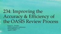 Improving the Accuracy and Efficiency of the OASIS Review Process icon
