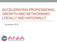 Accelerating Professional Growth and Networking: Locally and Nationally