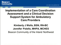 Implementation of a Care Coordination Assessment and a Clinical Decision Support System for Ambulatory Care Providers