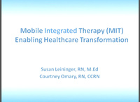 Mobile Integrated Therapy: Enabling Health Care Transformation