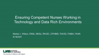 Ensuring Competent Nurses Are Working in Technology and Data Rich Environments