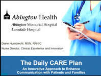 The Daily CARE Plan: An Innovative Approach to Enhance Communication with Patients and Families