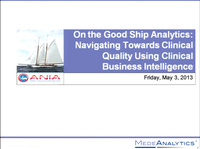 On the Good Ship Analytics: Navigating Towards Clinical Quality Using Clinical Business Intelligence