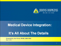 Medical Device Integration: It's All About the Details