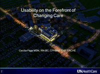 Usability on the Forefront of Changing Care