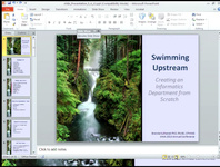 Swimming Upstream: Building an Informatics Department from the Ground Up