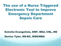The Use of a Nurse-Triggered Electronic Screening Tool to Improve ED Sepsis Care