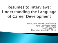 Resumes to Interviews: Understanding the Language of Career Development