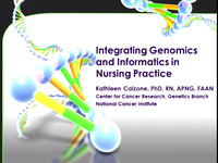 Tutorial on Integrating Genomics and Informatics in Nursing Practice