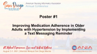 Improving Medication Adherence in Older Adults with Hypertension by Implementing a Text Messaging Reminder