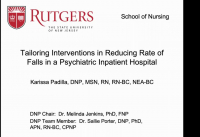Tailoring Interventions in Reducing Rate of Falls in a Psychiatric Inpatient Hospital