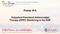 Outpatient Parenteral Antimicrobial Therapy (OPAT) Monitoring in the Electronic Health Record (EHR)