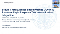 Secure Chat: Evidence-Based Practice COVID-19 Pandemic Rapid Response Telecommunications Integration