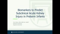 Physiologic Biomarkers to Predict Subclinical Acute Kidney Injury in Preterm Infants