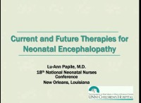Current and Future Therapies for Neonatal Encephalopathy