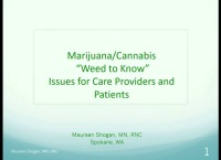 "Marijuana/Cannabis: ""Weed to Know"" Issues for Care Providers and Patients"