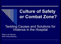 Culture of Safety or Combat Zone: Tackling Causes and Solutions for Violence in the Hospital
