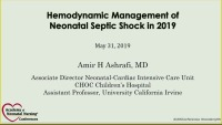 Paradigm Shifts for the Hemodynamic Management of Neonatal Septic Shock