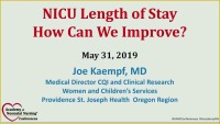 NICU Length of Stay: How Can We Shorten It?