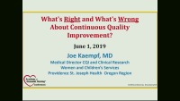 What's Right About CQI and What's Wrong About CQI?
