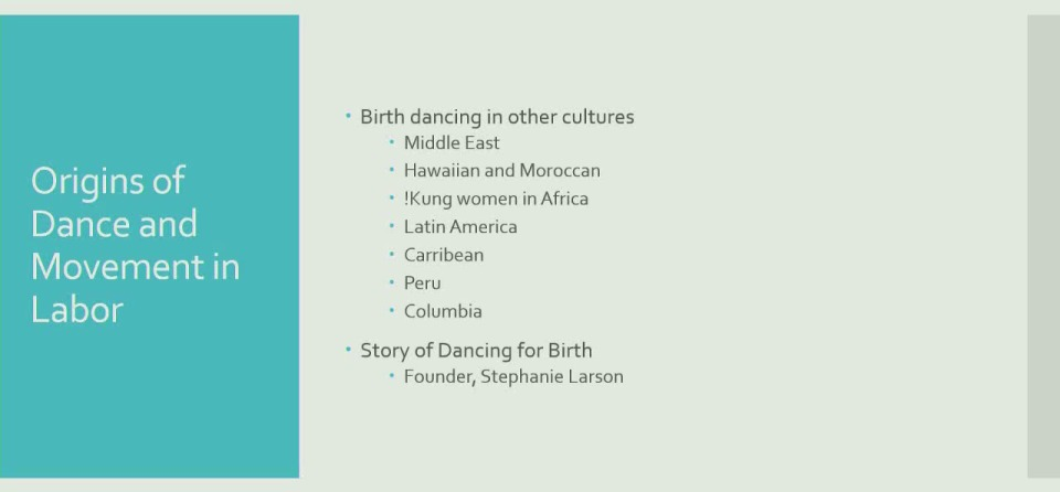 Incorporating Dancing for Birth into Your Practice
