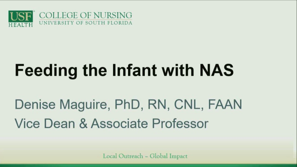 Feeding the Infant with Neonatal Abstinence Syndrome