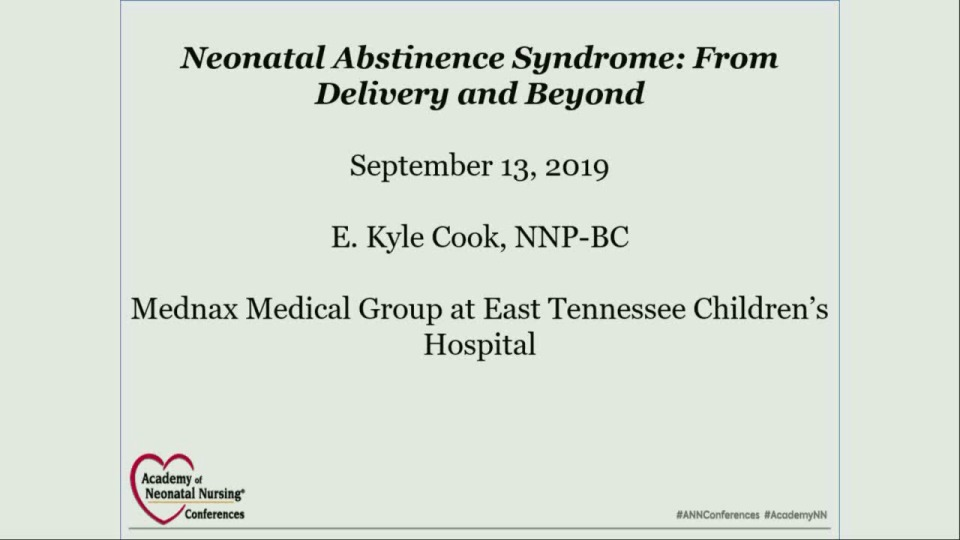 Management of Neonatal Abstinence Syndrome, From Delivery and Beyond