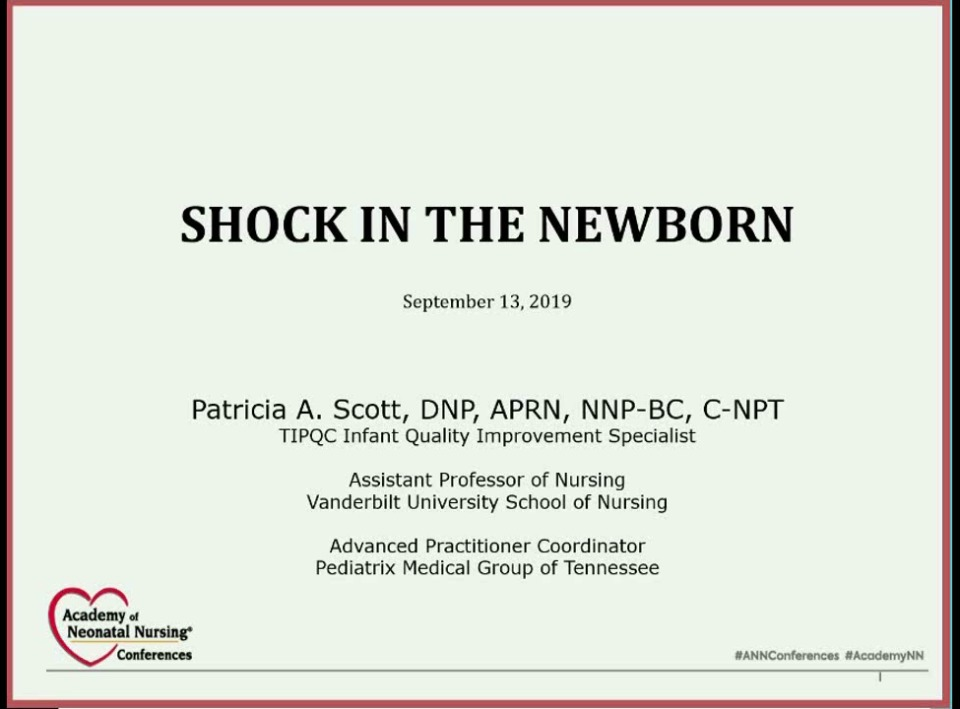 Shock in the Newborn