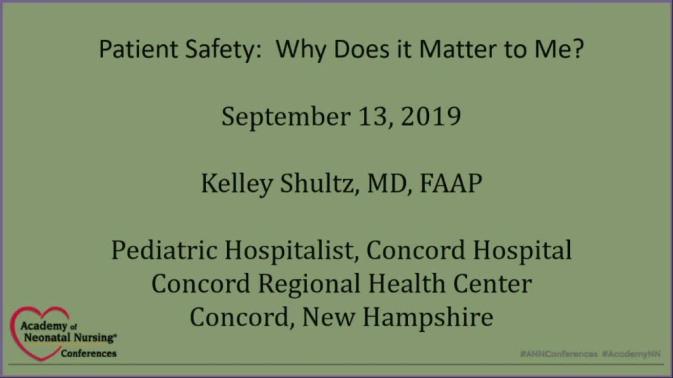 Patient Safety: Why Does it Matter to Me?