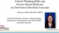 Critical Thinking Skills and Science-Based Medicine: An Overview of the Basic Concepts