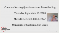 Common Nursing Questions About Breastfeeding