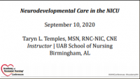Providing Neurodevelopmental Care in the NICU - Sponsored by Pampers