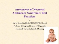 Assessment of Neonatal Abstinence Syndrome: Best Practices