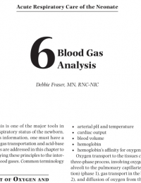 Blood Gas Analysis (From Acute Respiratory Care of the Neonate, 3rd edition, Chapter 6)