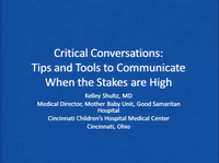 Critical Conversations: Tips and Tools to Communicate When the Stakes are High