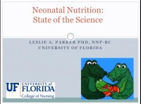 Neonatal Nutrition: State of the Science