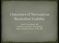 Outcomes of Neonates at the Borderline of Viability