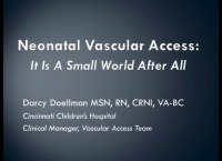 Neonatal Vascular Access: It is a Small World After All