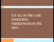 It's All in the Case: Endocrine Emergencies in the NICU