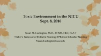 Toxic Environment in the NICU