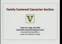 Family-Centered Cesarean Section